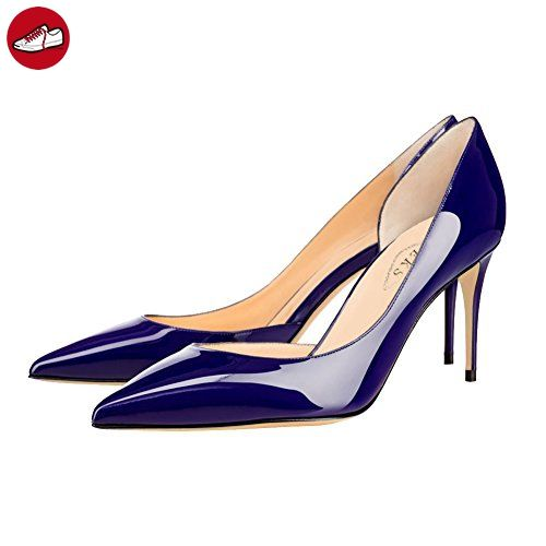 EKS Damen Fllosace Stilettos spitze Zehe Pumpen-Schuhe Blau 46 EU (*Partner-Link)