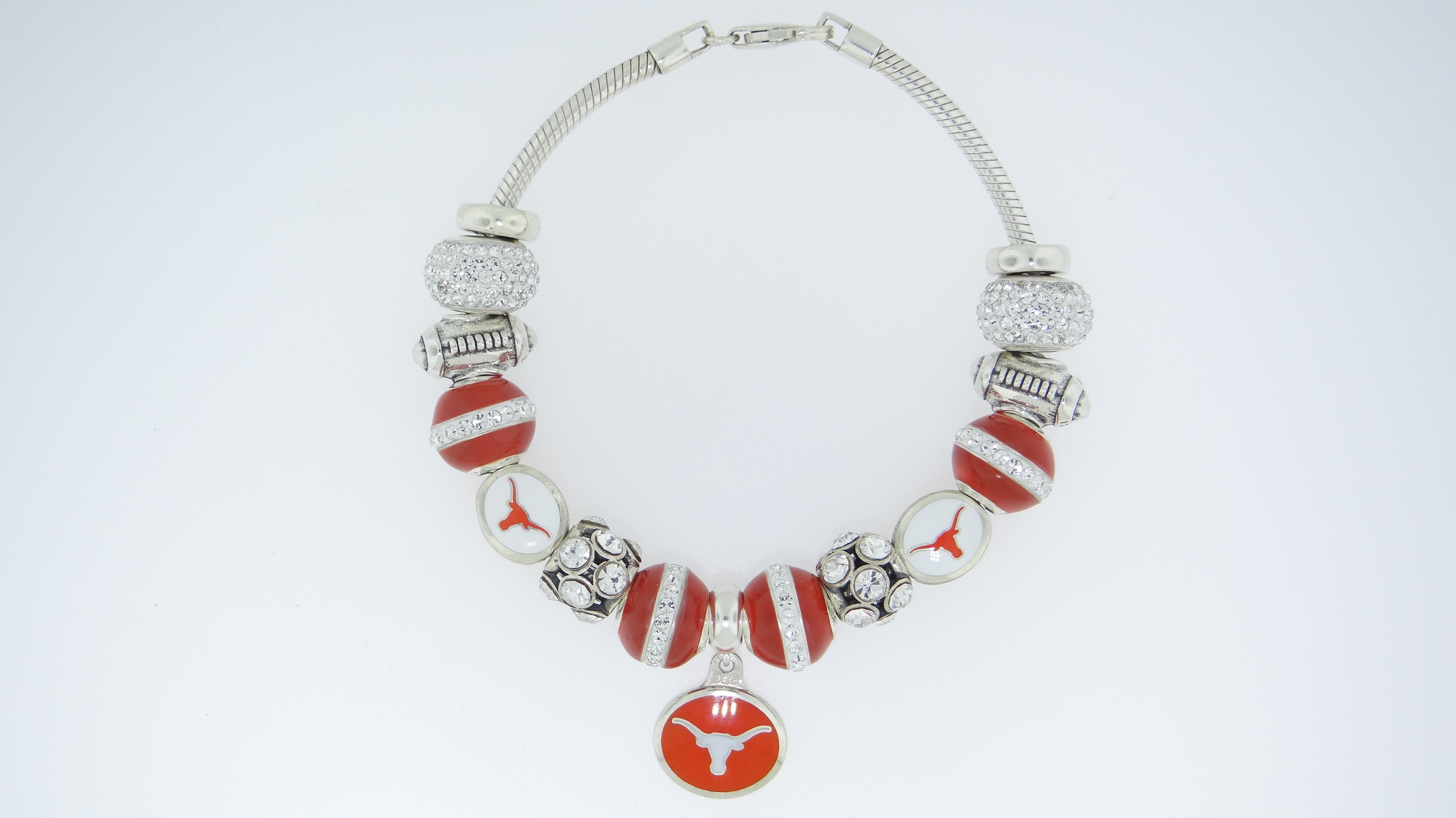 Sterling Silver, Hand Enameled, Officially Licensed Collegiate Product