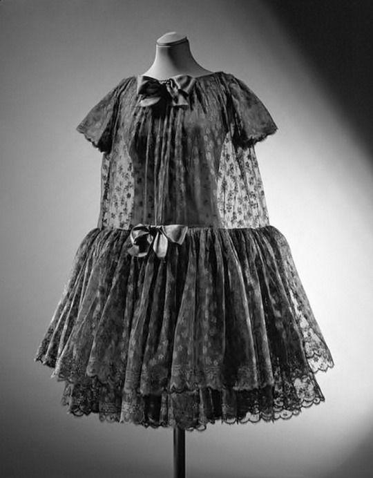 Balenciaga lace baby doll dress, 1958.