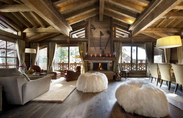 Chalet Stil En haut sur la montagne Pinterest Innendesign - ideen schlafzimmer einrichtung stil chalet