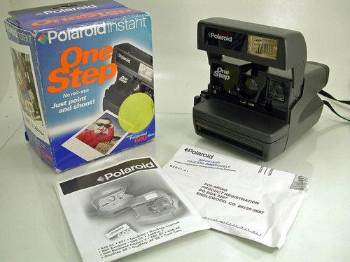 polaroid onestep instant film camera box manual mint rh pinterest com Old Instant Digital Camera Where Can I Purchase a Polaroid Instant Camera