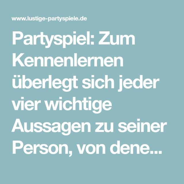partyspiel kennenlernen)
