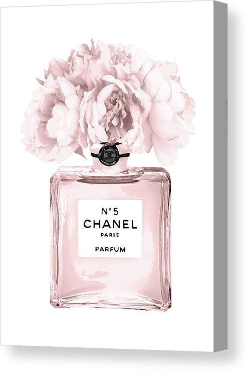 Chanel N 5 Perfume 9 Canvas Print By Del Art All Canvas Prints Are Professionally Printed Assembled And Shipped Chanel Wall Art Chanel Art Print Chanel Art
