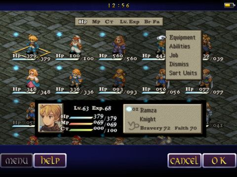 Final Fantasy Tactics for the iPad. Easy to resist at 17.99, but I still want.