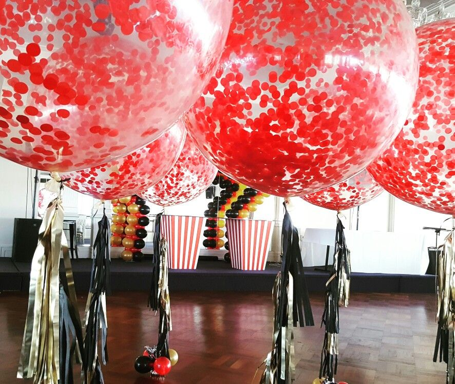Black Gold And Red Black Party Decorations Red Party
