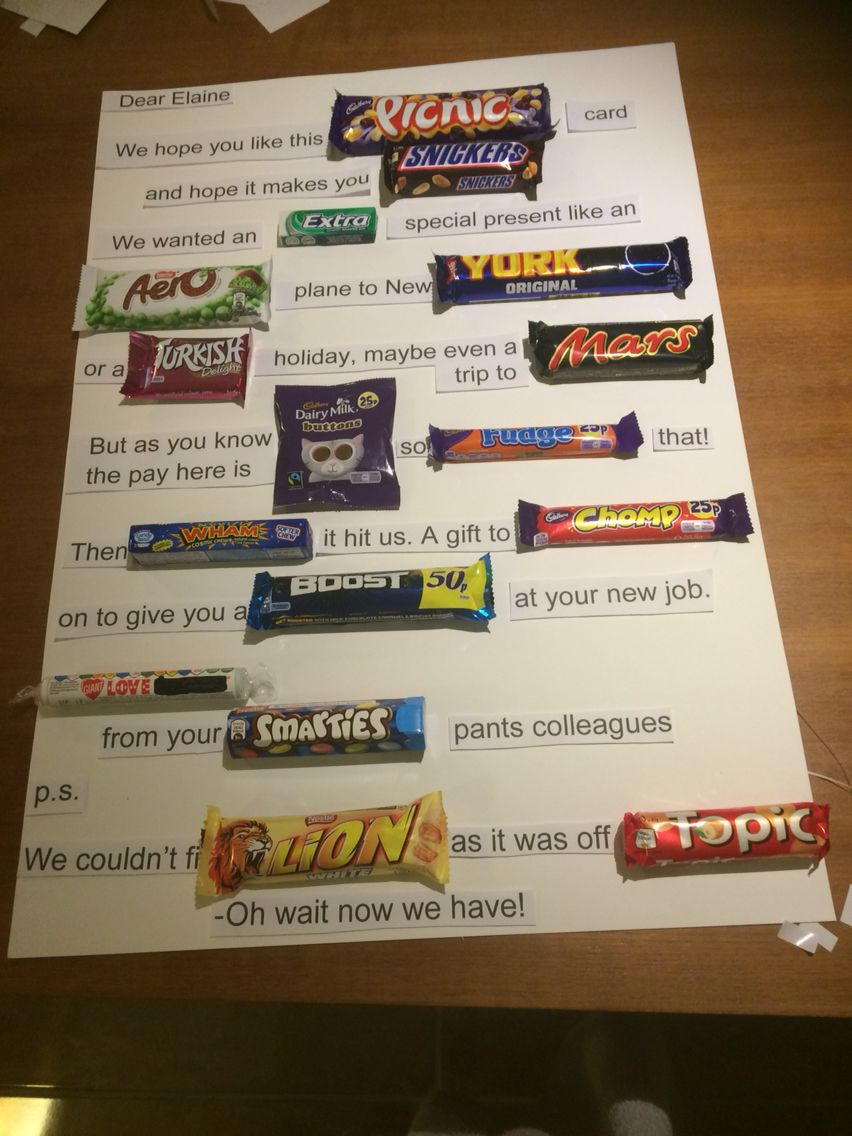 Chocolate Card Hand Made Pinterest Candy Bar Ts