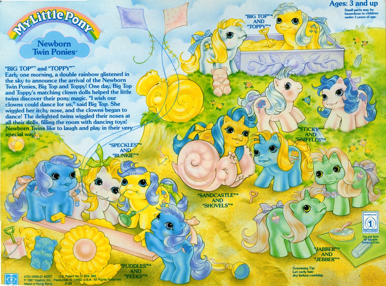 My Little Pony - Newborn Twins Year 2 Backcard - Big Top and Toppy