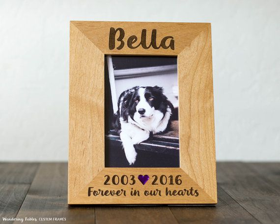 Dog Picture Frame, 4x6 Photo, Pet Memorial Gift, Forever in our ...