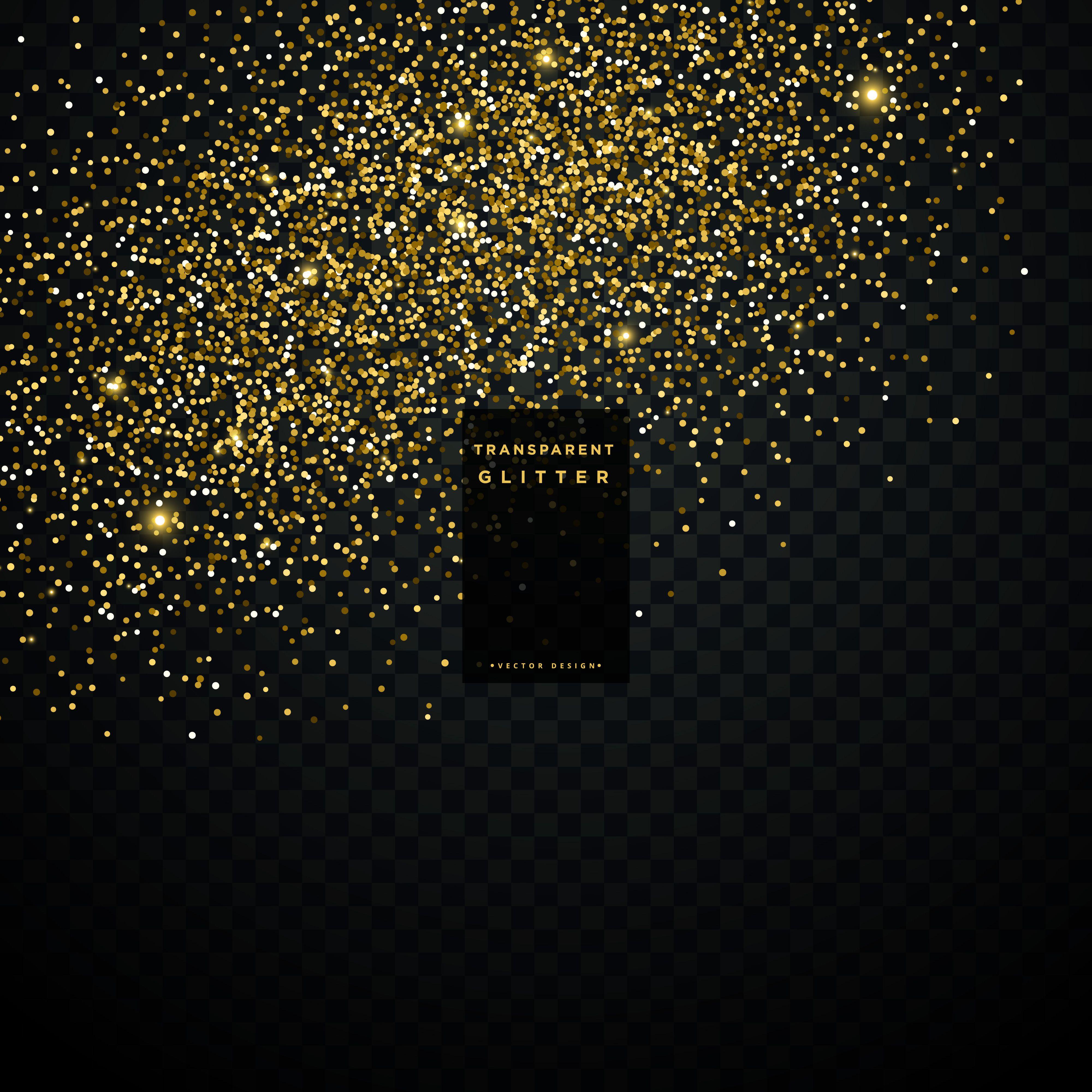 Golden Glitter Particle Dust Transparent Background Vector Choose From Thousands Of Free Vectors Clip Art Designs Icon Vector Art Design Clip Art Vector Art