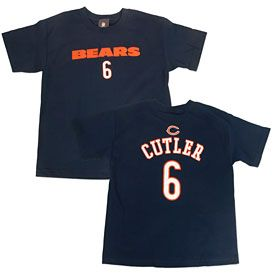 Get this Chicago Bears Jay Cutler Youth Primary Gear T-Shirt at ChicagoTeamStore.com