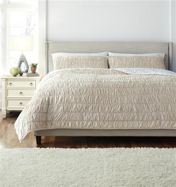 Ashley Furniture Stitched Beige Queen Comforter Set King Quilt Sets Comforter Sets King Bedding Sets