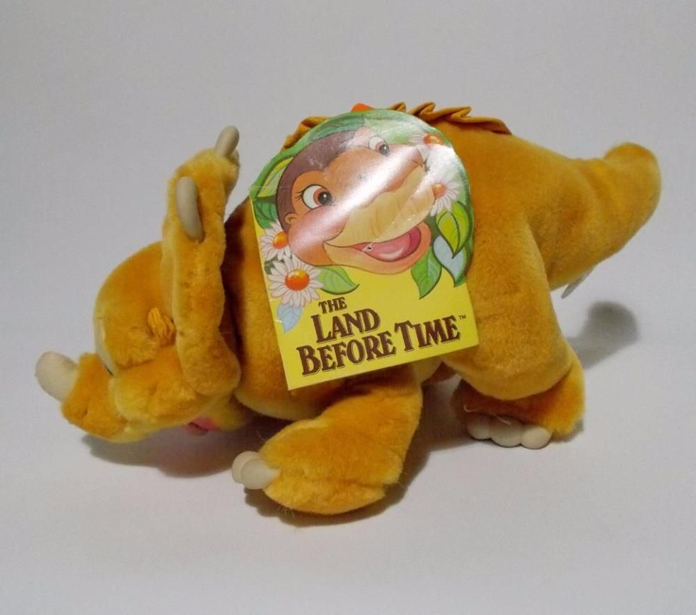 Land Before Time Cera Plush Triceratops Stuffed Animal Gund Tag 1988 ...