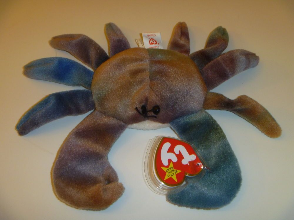 Details About Rare Ty Beanie Baby Claude The Crab 1996