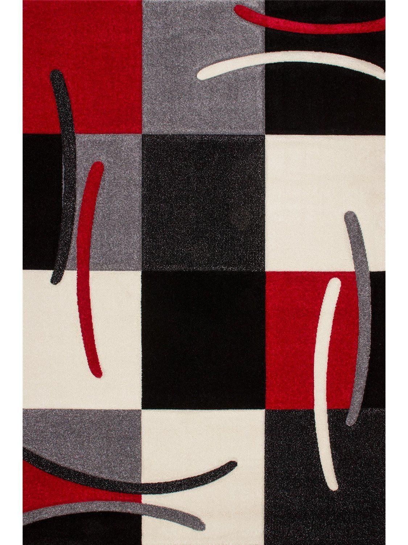 Obsession alfombra moderna california rojo 120x170 cm for Alfombras de hilo
