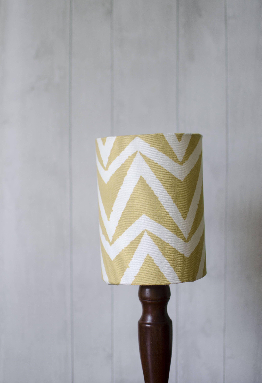 Yellow Lampshade Mustard Lamp Shade Yellow Table Lamp Drum