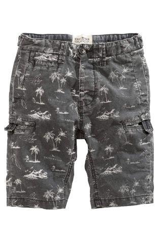 Grey Surf Print Chino Shorts (3 16yrs) | Shorts de moda