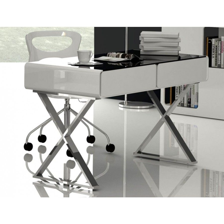 Gloss White Home Office Desk With Drawers Order Furniture
