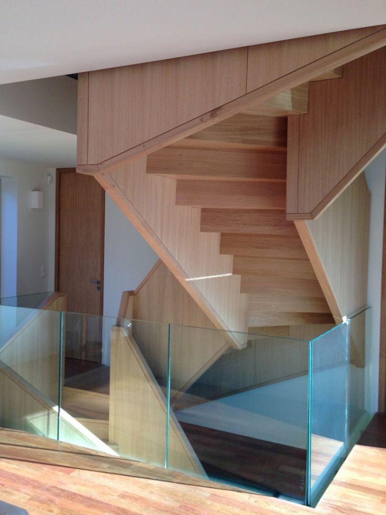 Escalier Zen 4 Creametal Droit Blanc Metal Laque Marches Bois