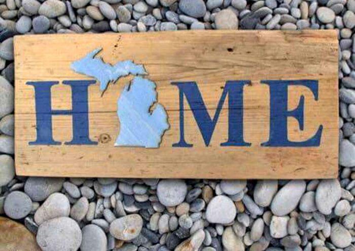 Michigan Barnwood Home Sign Barnwood Crafts Pinterest Barn