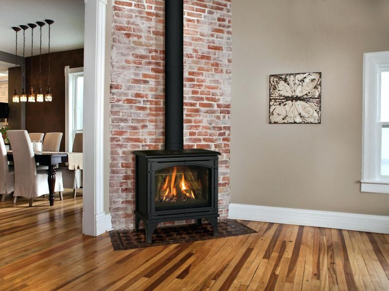 Small Corner Direct Vent Gas Fireplace The Free Standing Gas