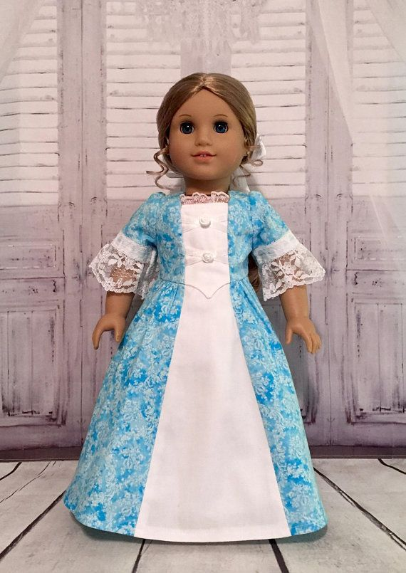 Colonial Doll Dress 18/18 doll clothing/18in doll clothes/18in American Girl clothes/American Girl 18in doll clothing/18 historical dolls