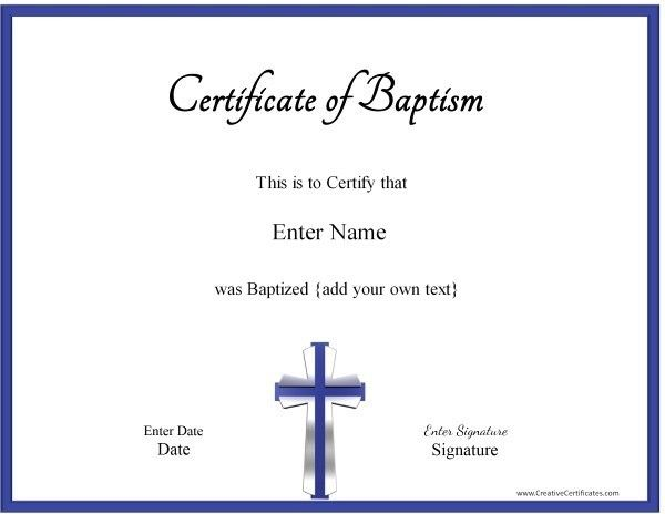 Sample Baptism Certificate Template Certificate Of Excellence Free