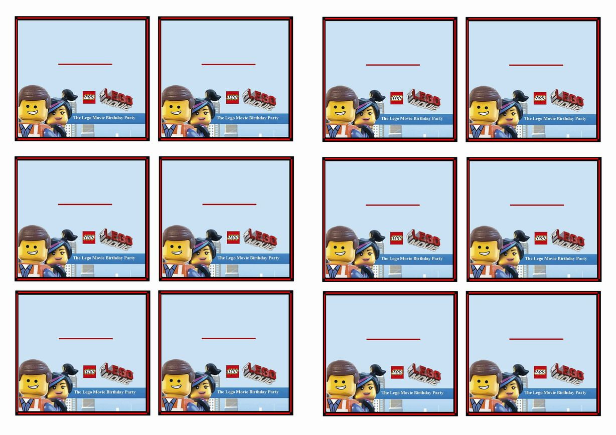 FREE printable The Lego Movie themed Name Tags Themed Name Tags