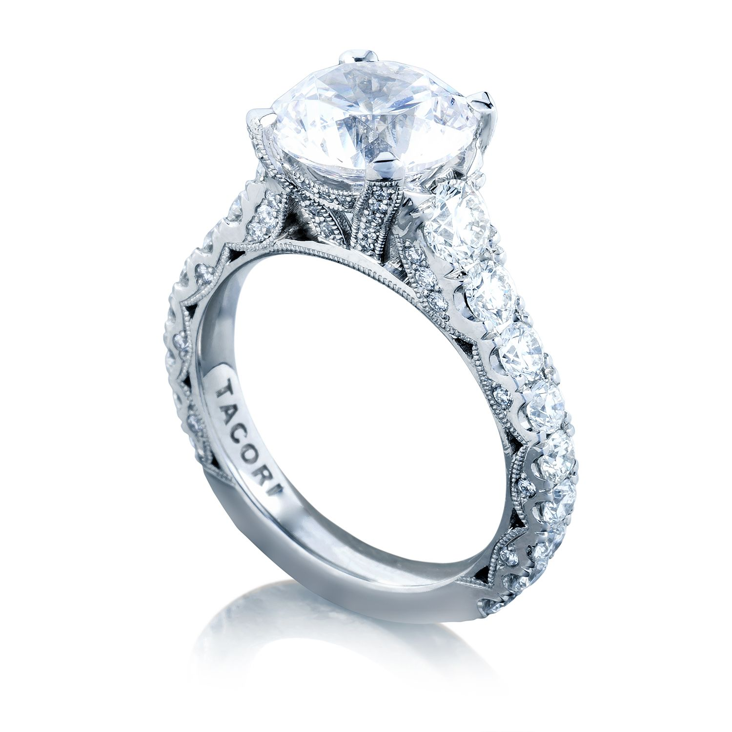 Solitaire tacori engagement rings for women