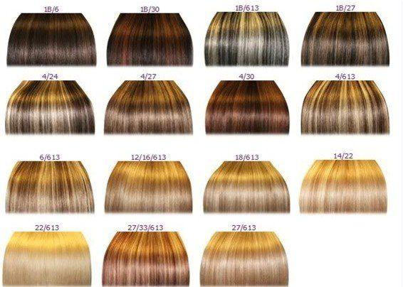Shades Of Blonde Hair Color Chart Tonos De Pelo Colores De