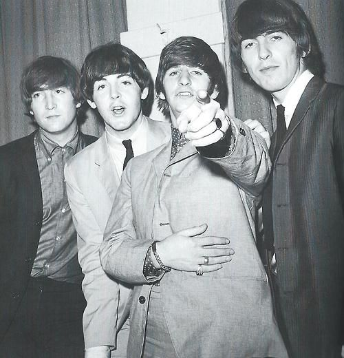 John Lennon, Paul McCartney, Richard Starkey, and George Harrison (The Beatles 1964)