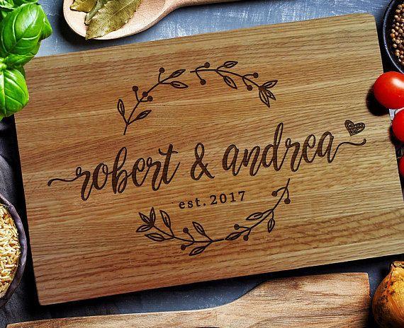 Custom Cutting Board Anniversary Gift Wedding Gift Personalised Cutting Board Engraved Beechwood for Wedding