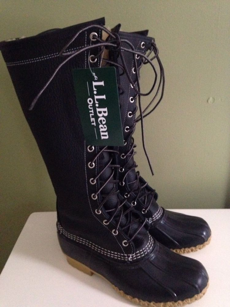 Ll Bean Boots Women S Size 8 Sherling Lined 16 Quot Leather