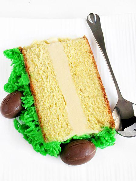 Tina's cookings: EASTER WHITE CHOCOLATE CAKE