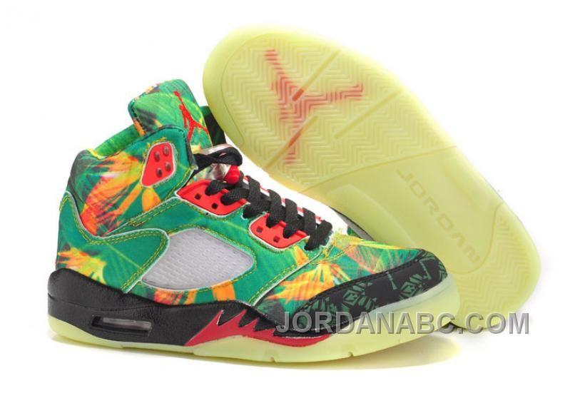 "http://www.jordanabc.com/air-jordan-retro-5-maple-leaf-green-black-red-for-sale.html AIR JORDAN RETRO 5 ""MAPLE LEAF"" GREEN BLACK RED FOR SALE Only $88.00 , Free Shipping!"