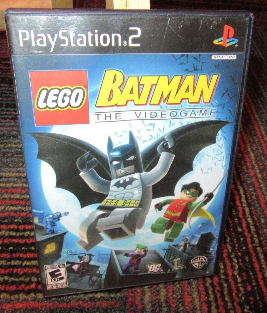 Lego Batman The Videogame Game For Playstation 2 Ps2 Casegame
