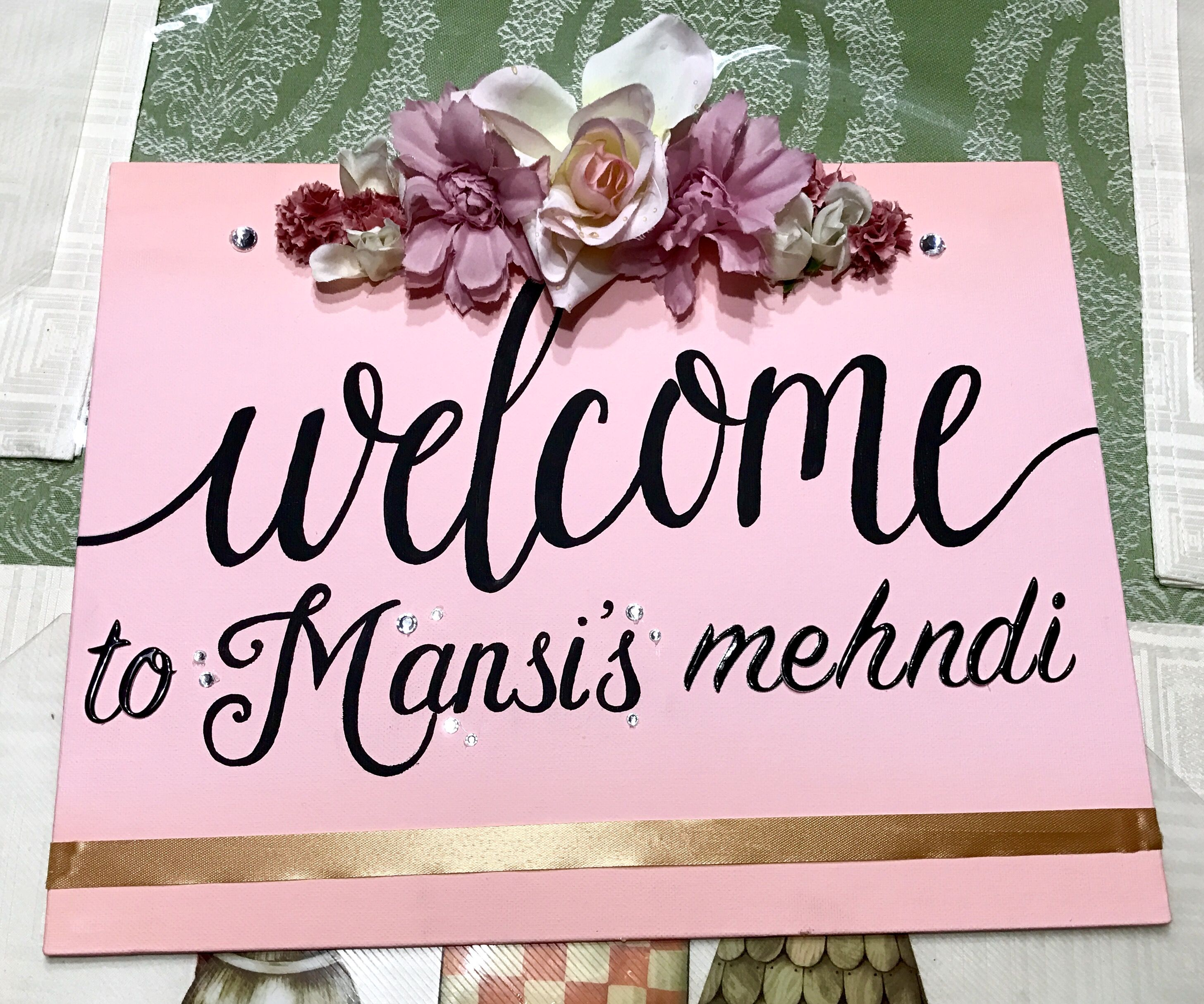 Wedding Mehndi Welcome Sign