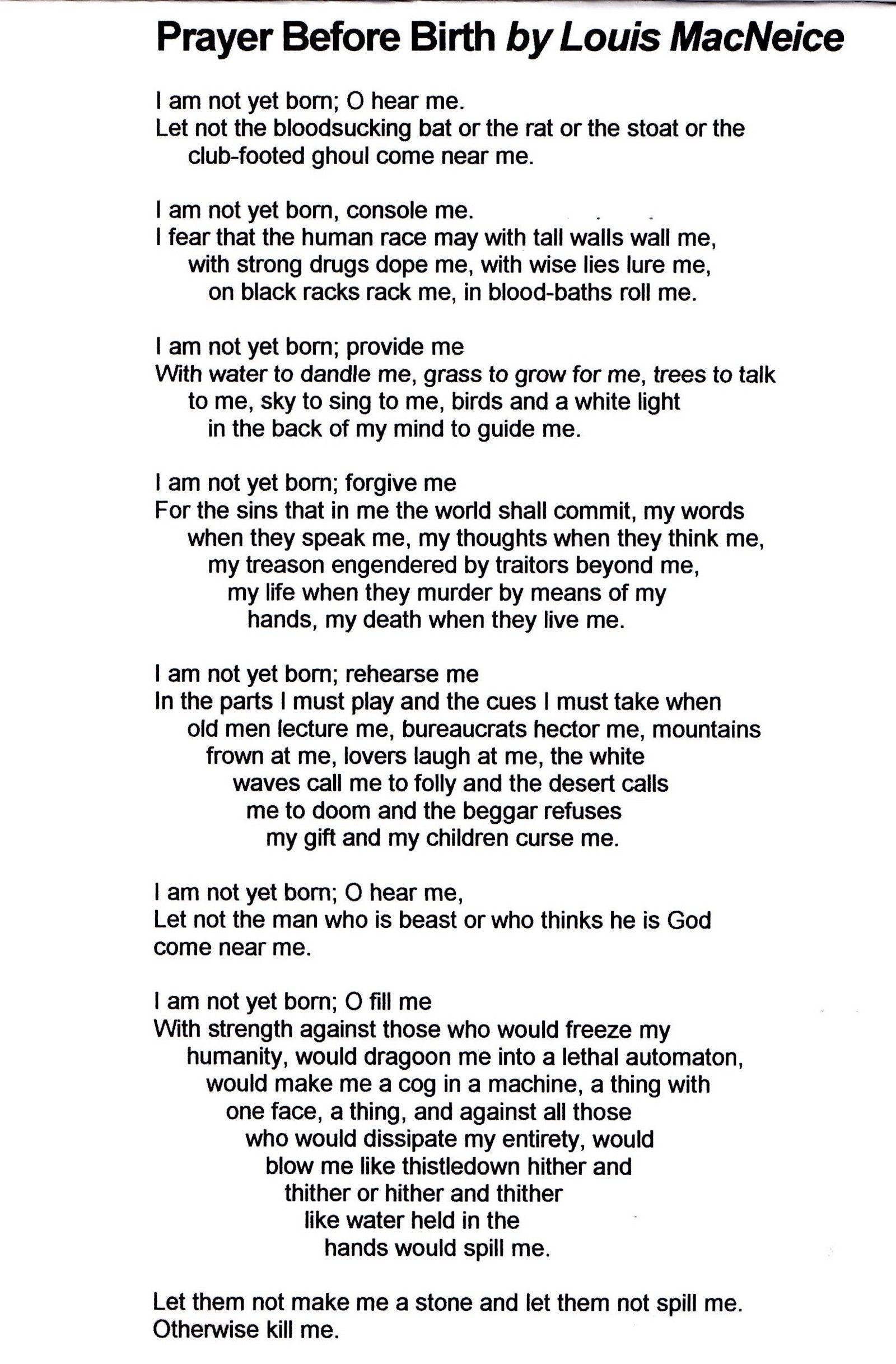prayer before birth pdf