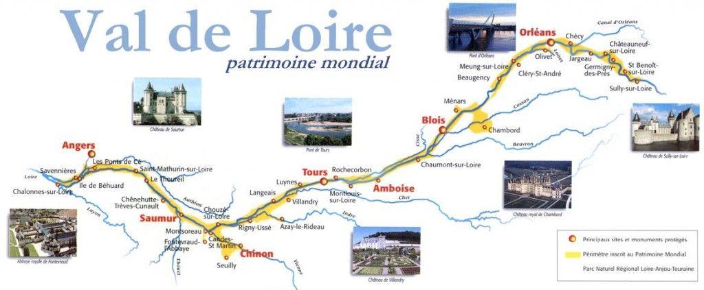 Val de Loire Castles Map Castles Pinterest Castles