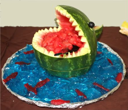 Shark watermelon - looks pretty easy to make!