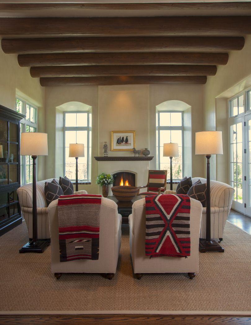 Santa Fe Style Living Room: Inspiration File: East Coast Meets Santa Fe (Modern