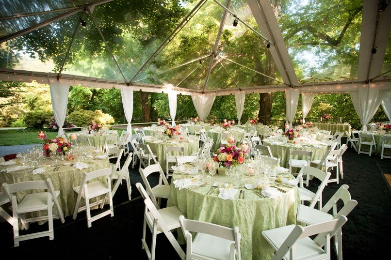 Clear Wedding Tent And Tables By Loane