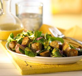 Warm Italian Sausage, Potato and Arugula Salad Lunch