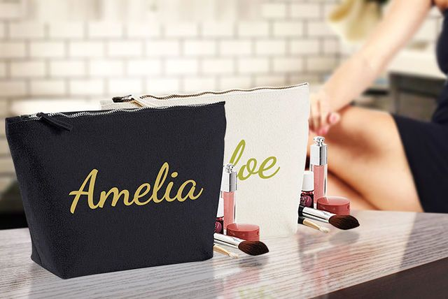Personalised Makeup Bag - 2 Colours!