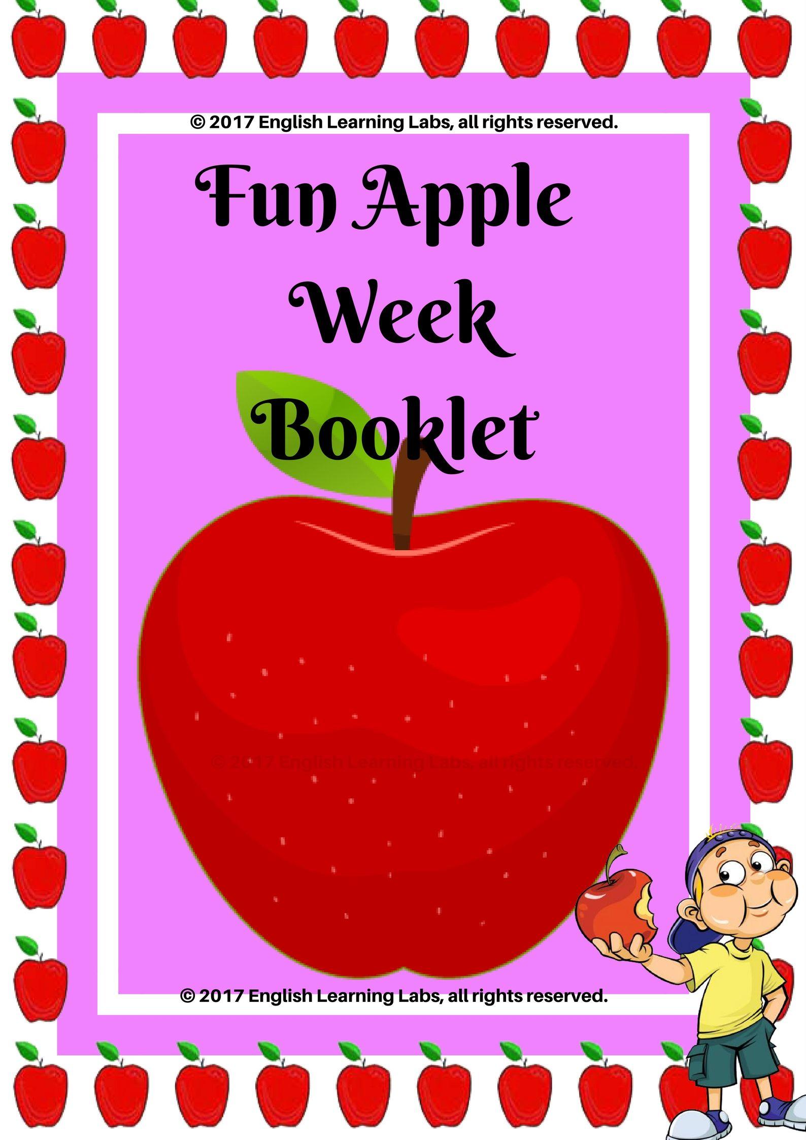 Apple Week Activities Flash Cards Ela Worksheets Games