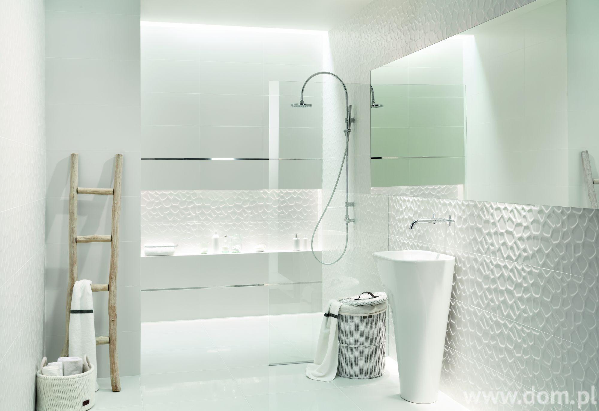 Kolekcja All In White Marki Tubądzin Płytki 3d łazienka
