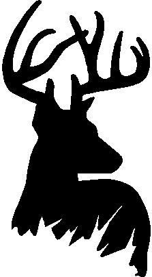 Deer Head Decal Hunting Decals Fishing Decals Hunting - Hunting decals for truckshuntingfishing window decals in white or camouflage at woods