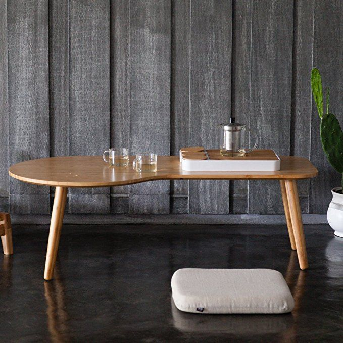 amazon zen's bamboo end table for living room coffee