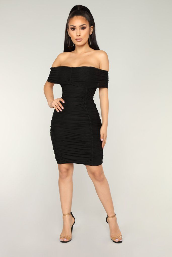 c93888bd807 Chennai Ruched Dress - Black