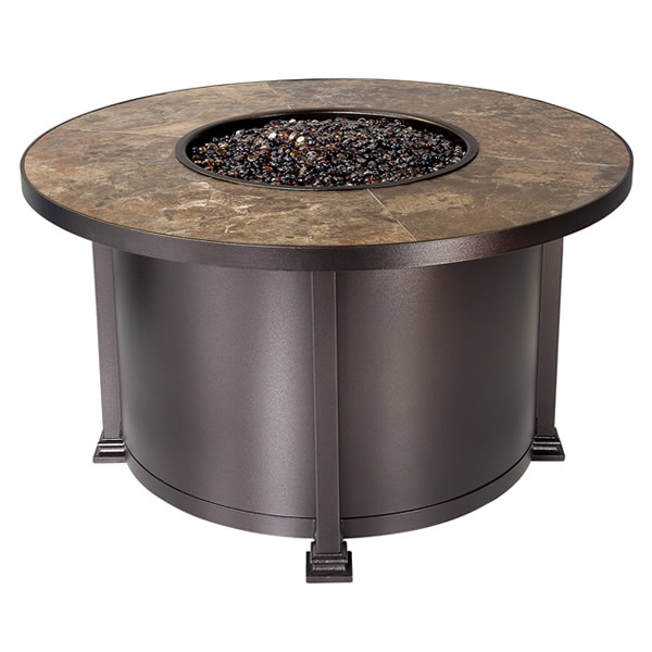 Santorini 42 Quot Rustic Slate Chat Fire Pit Table Fire Pit