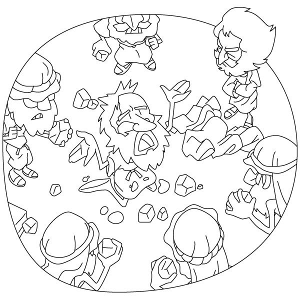 Christian Cliparts Net The Stoning Of Stephen Bible Coloring Pages Bible Crafts Bible Crafts For Kids